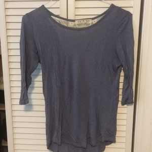 Plain tee with a lace back detail!